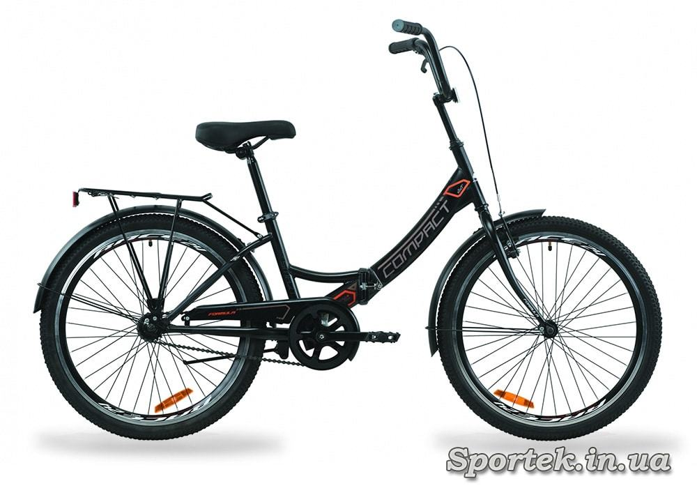 Складаний універсальний велосипед Formula Compact - чорно-сірий з помаранчевим