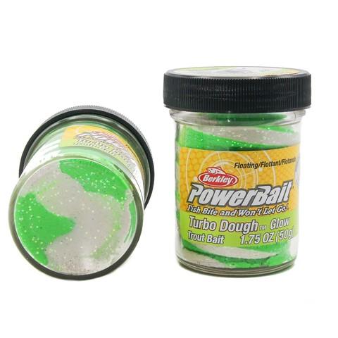 Форелевая паста Berkley - STBTDG-GGW (1102743) Turbo Dough Glow цвет зелёный/белый