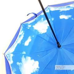 Premium зонт наоборот небо с синим куполом п/автомат (откр)