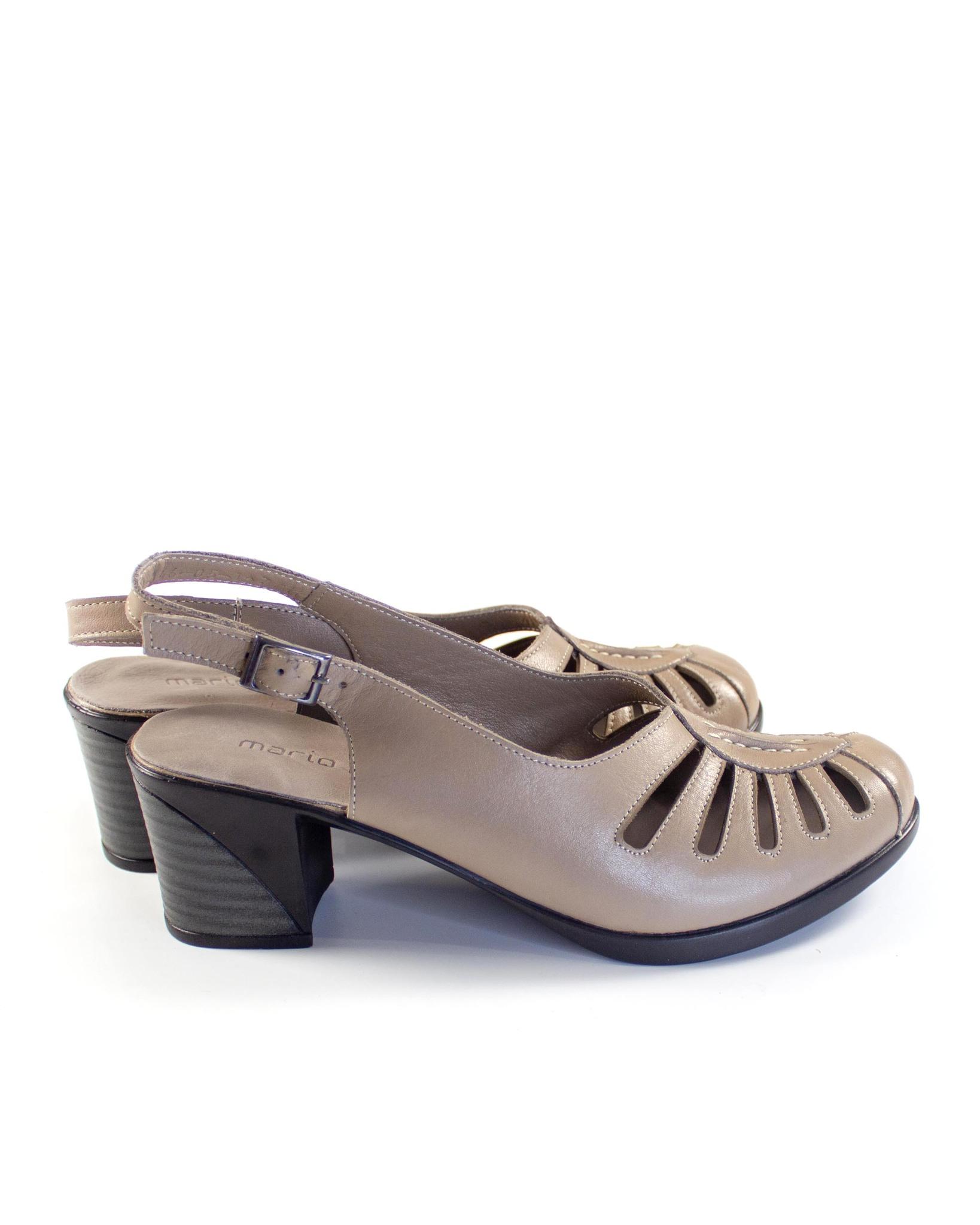 бежевые туфли Mario Muzi