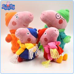 Розовая Свинка и семья в зимней одежде мягкие игрушки