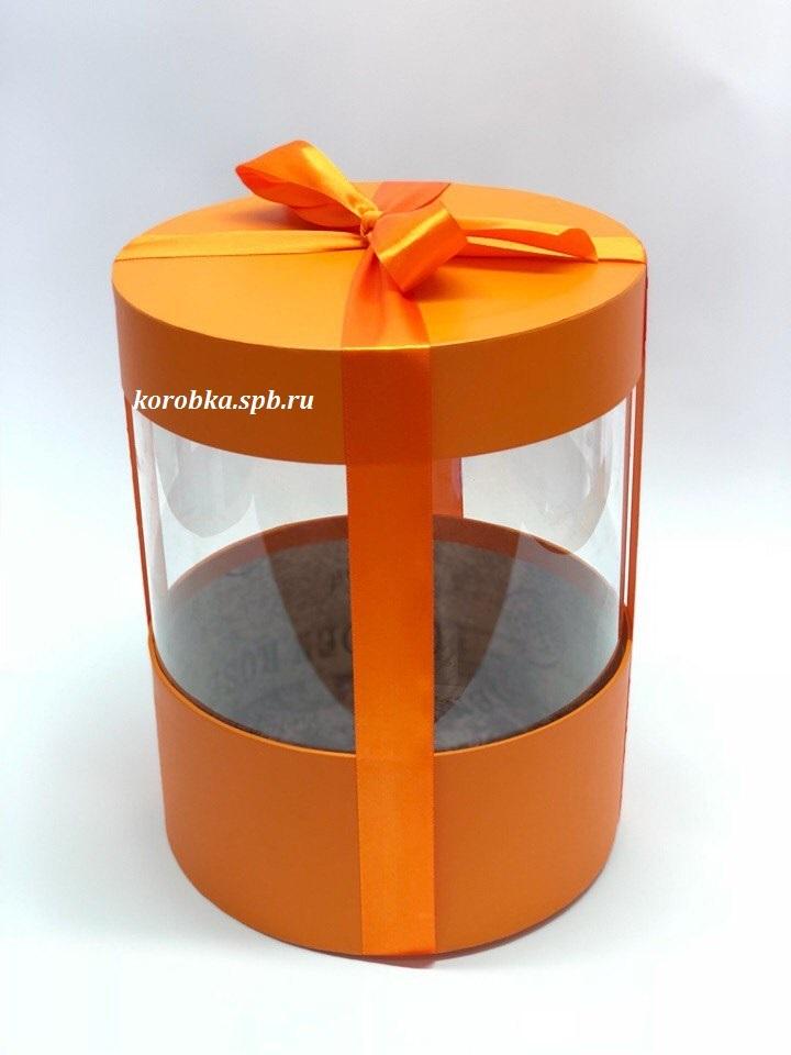 Коробка аквариум 22,5 см Цвет : Оранжевый  . Розница 400 рублей .