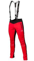 Детские Лыжные разминочные брюки 905 Victory Code Dynamic Red с лямками 2019