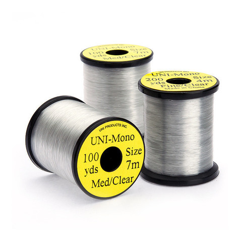"UNI Монтажная нить Mono 100 yds. Medium Clear .007"" 0.18 mm"
