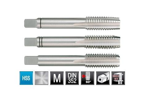 Метчик М2х0,4 (комплект 3шт) DIN352 6h HSS-G Ruko 230020