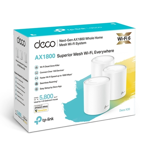 TP-Link Deco X20 AX1800 домашняя Mesh Wi-Fi система