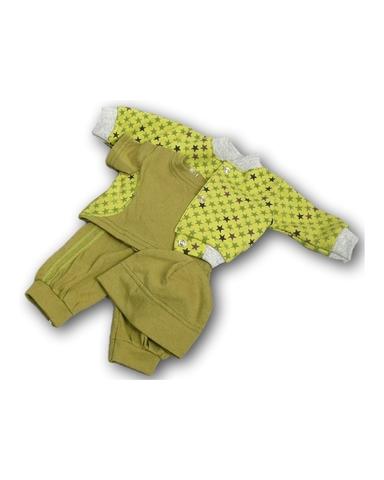 Костюм с курткой бомбером - Зеленый 1. Одежда для кукол, пупсов и мягких игрушек.