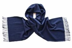 Шарф кашемировый синий 00300