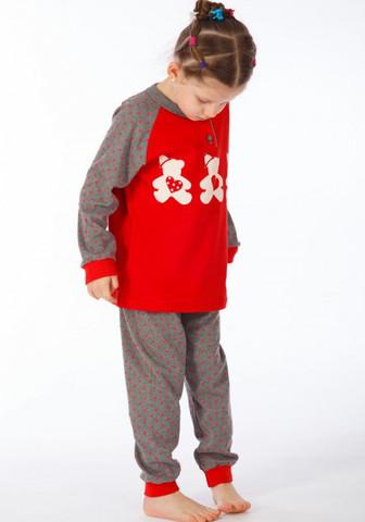 Детская теплая пижама с мишками