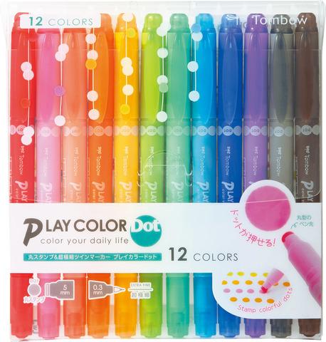 Tombow Play Color Dot: набор 12 цветов