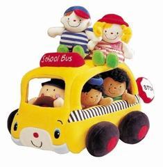 Мягкий школьный автобус с учениками (кукольный театр) (K`s Kids, KA313)