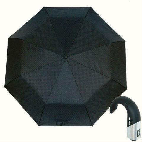 Купить мужской серый зонтик с ручкой крюк Baldinini