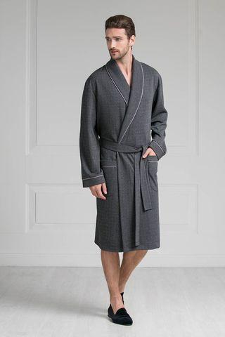 Мужской халат 30270 тёмно-серый Laete