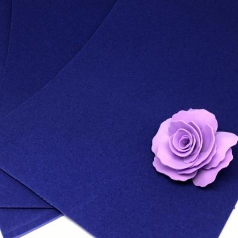 Фоамиран бархатный. Цвет: Синий 011