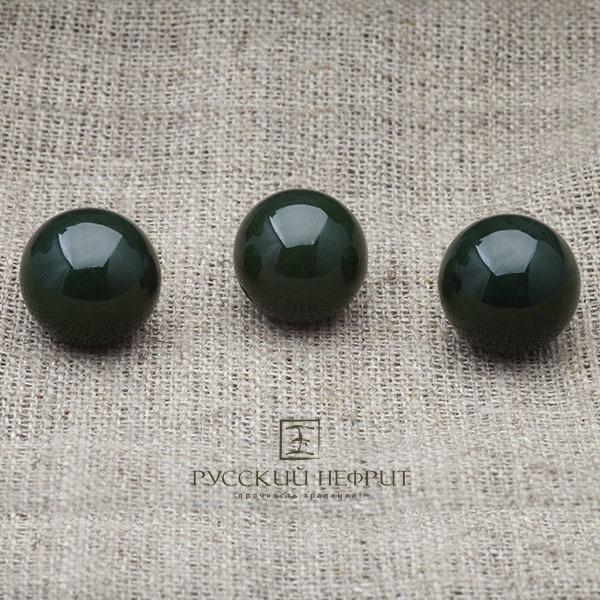 Вставки Шарик 15мм. Тёмно-зелёный нефрит (класс модэ). businy_zel_15.jpg