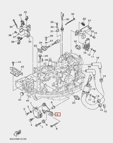 Кожух коммутатора для лодочного мотора F20 Sea-PRO (12-5)