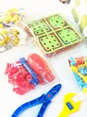 Конструктор 3D сборка 190 деталей с инструментами