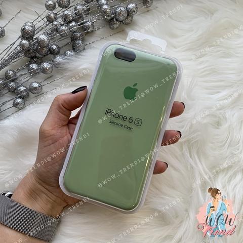 Чехол iPhone 6/6s Silicone Case /mint gum/ фисташка 1:1