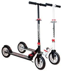 Двухколесный самокат для взрослых, материал - металл/пластик BIBITU CROSS  SKL-037-AWS, надувные колеса, Белый