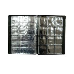 Альбом для монет, 125х175мм, 6 листов, комбинированный, 96 монет