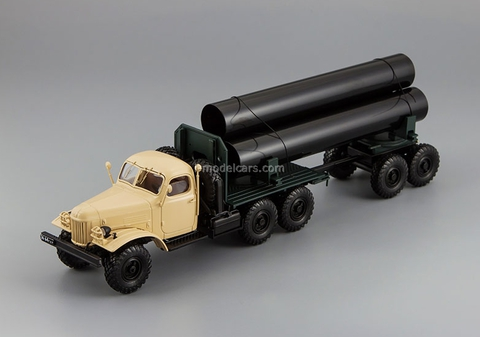 ZIL-157K/TV-5 pipe trucks with trailer pipes beige DIP 1:43