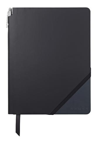 Записная книжка Cross Jot Zone, A4, 160 страниц в линейку, ручка в комплекте. Цвет - черно-т.си