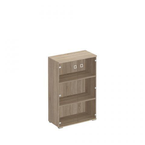 КС 302 Шкаф для документов средний со стеклянными прозрачными дверьми (90.2x44.2x137.8)