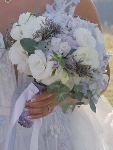 Букет невесты с Гортензией