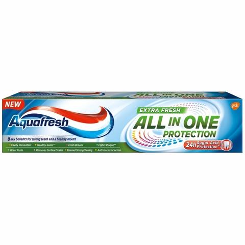 Зубная паста AQUAFRESH All-in-One Extra fresh 100 мл СЛОВАКИЯ