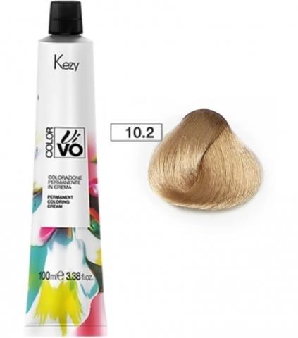 Kezy Color Vivo - 10.2 экстра светлый блондин бежевый 100 ml