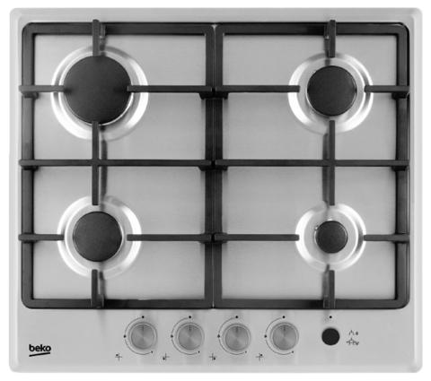 Встраиваемая газовая панель Beko HIMG64235SX