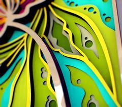 Экзотический цветок от SamCraft - сборные объемные 3D картины из дерева своими руками