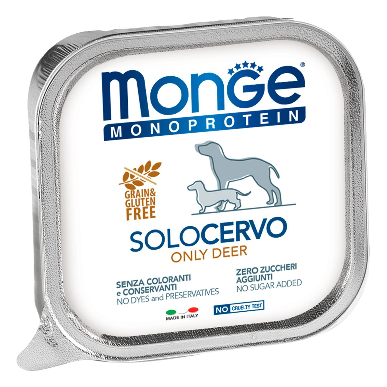 Monge Паштет для собак Monge Dog Monoproteico Solo оленина 70014175_1.jpeg