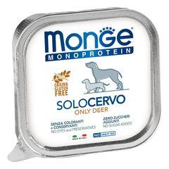 Паштет для собак Monge Dog Monoproteico Solo оленина