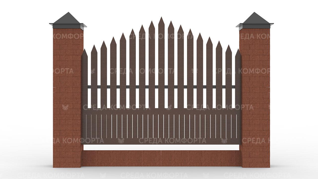Деревянный забор ZBR0105