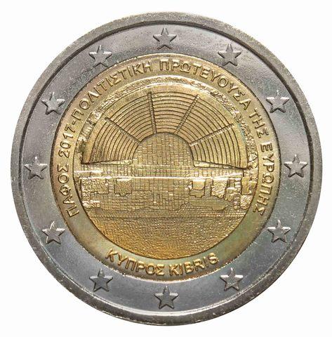 2 евро Кипр - пафос - культурная столица Европы. 2017 г.