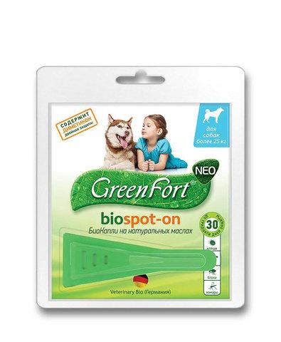 Green Fort neo БиоКапли от блох и клещей для крупных собак (более 25 кг) 2,5 мл