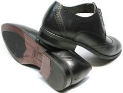 Повседневные туфли мужские инспектор Ikos 1157-1 Classic Black.