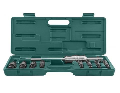 AE310082 Съемник подшипников с цанговыми захватами за внутреннюю обойму и обратным молотком в наборе, диапазон захватов 8-30 мм