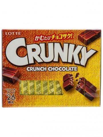 Шоколад Кранки хрустящий Экселент, набор 3,75 гр*26 шт., Lotte, 97,5 гр.