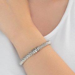 94050145- Толстый серебряный браслет