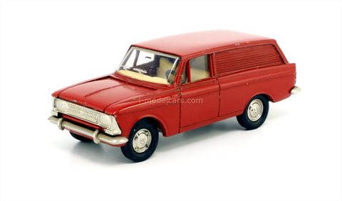 Moskvich-434 (bottom metal) red Agat Tantal Made in USSR 1:43
