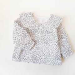 Рубашка с воротничком Точки