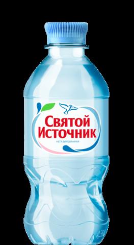 """Вода """"Святой источник"""" питьевая негазированная 0,33 л"""