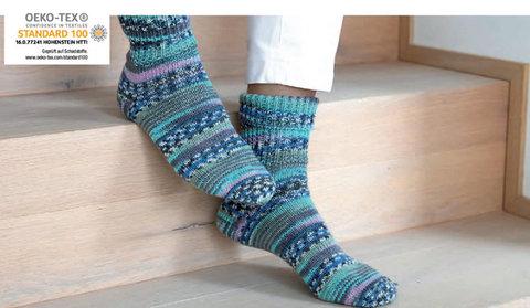 Носочная пряжа Gruendl Hot Socks Lazise 01