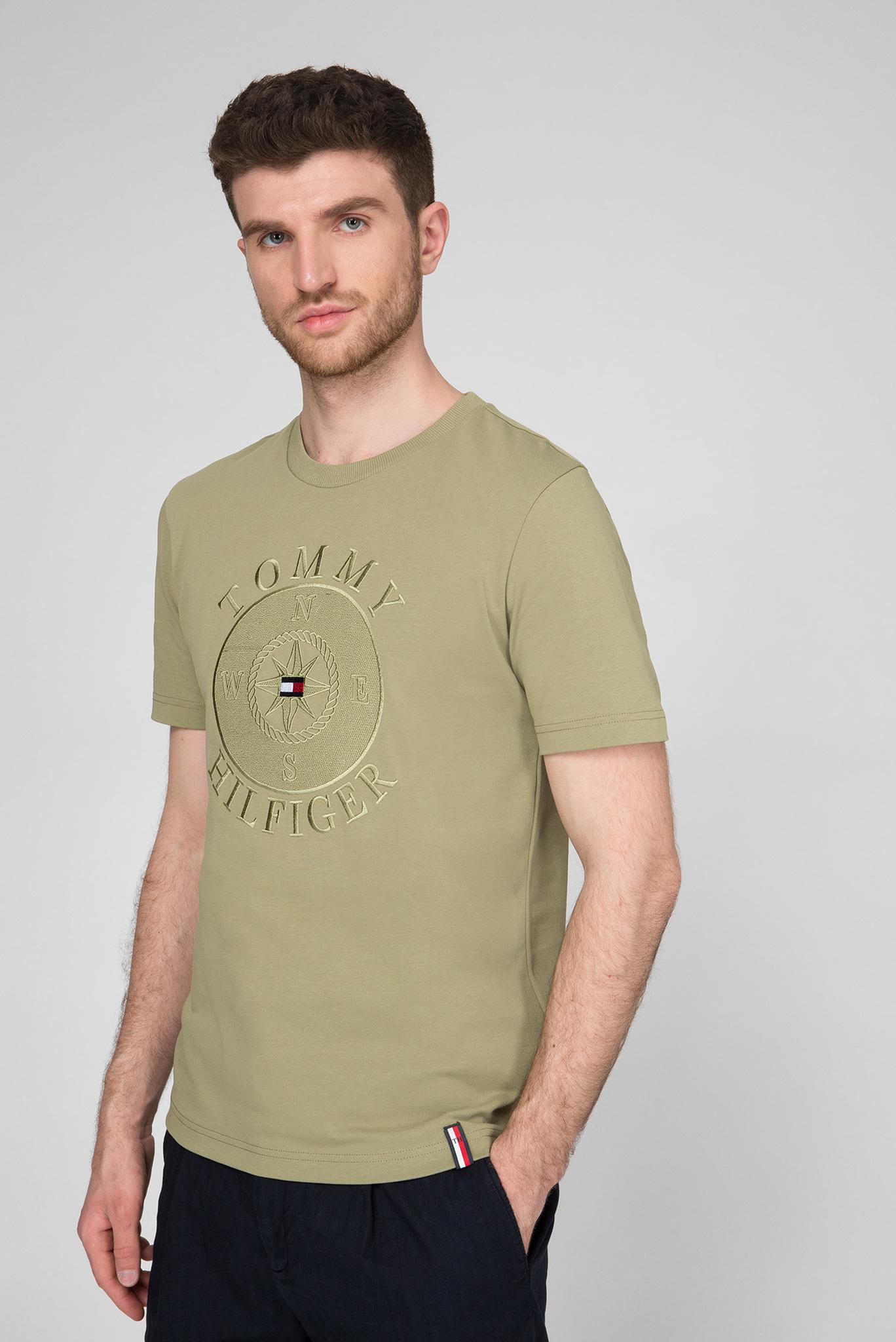 Мужская зеленая футболка CIRCULAR COMPASS RELAXED FIT Tommy Hilfiger