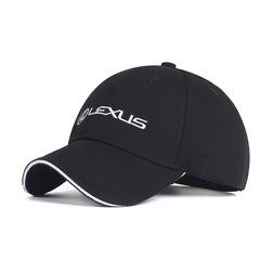 Модная бейсболка с вышивкой Лексус (Кепка Lexus) черная