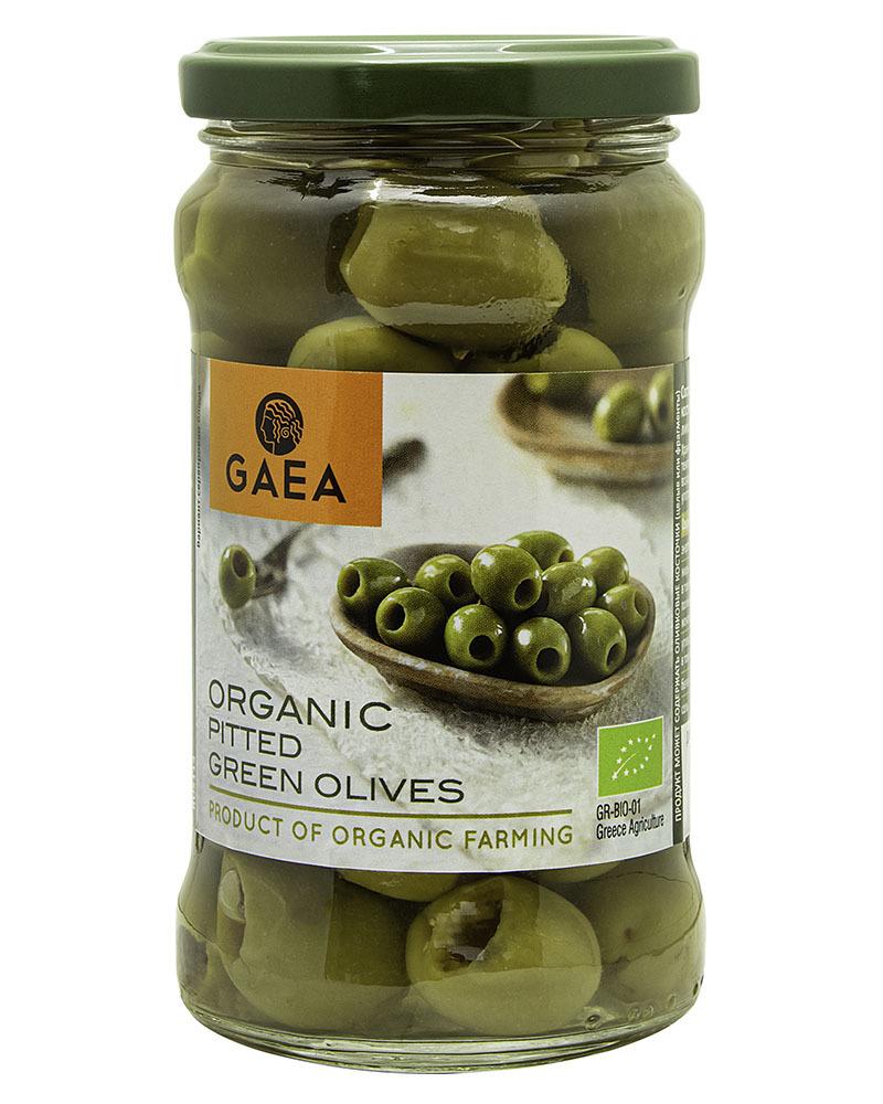Оливки GAEA органик зеленые без косточки 290 гр