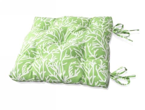 Подушка на стул Кораллы зеленый уличная коллекция