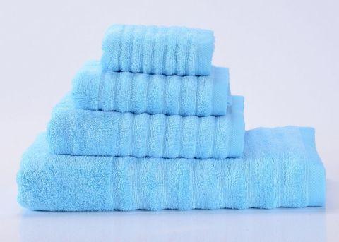 Wellness-8 голубое махровое  полотенце Valtery